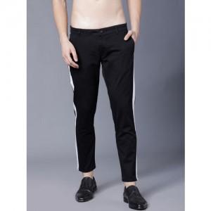 Highlander Black Lycra Slim Fit Trousers
