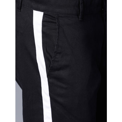 Highlander Black Lycra Slim Fit Trousers