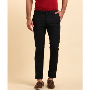 Indian Terrain Slim Fit Men's Black Trousers