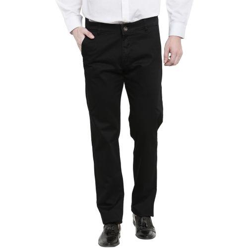 Ben Martin Regular Fit Men Black Trousers