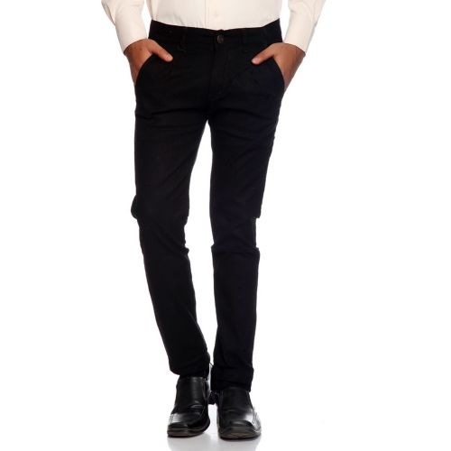 Rock Hudson Regular Fit Men's Black Trousers
