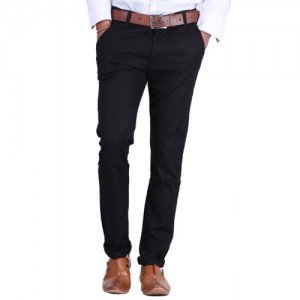 Rock Hudson Slim Fit Men Black Trousers