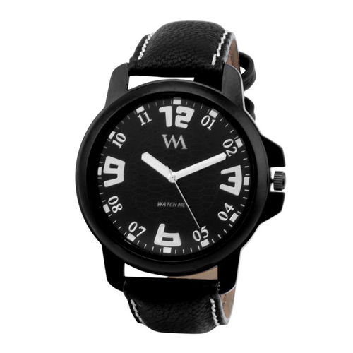 WM Men Black Analogue Watch WMAL-008-Brp