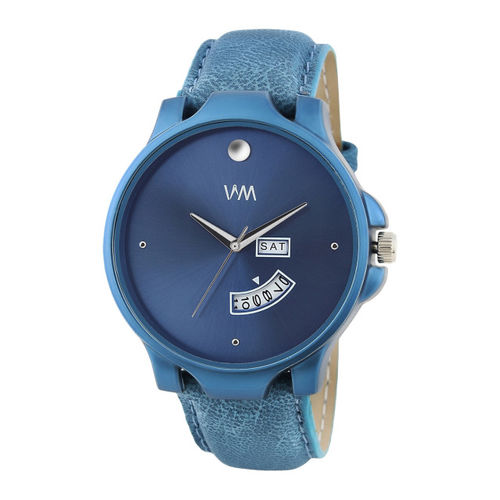 WM Men Blue Leather Analogue Watch DDWM-084zx
