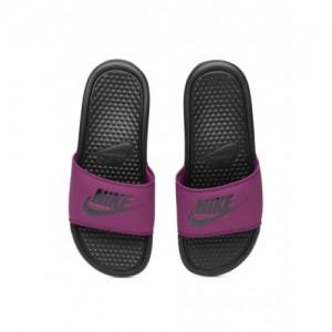 7e0b0d8526fe Buy Nike Women Black   White Benassi JDI Printed Slip-On Flip-Flops ...