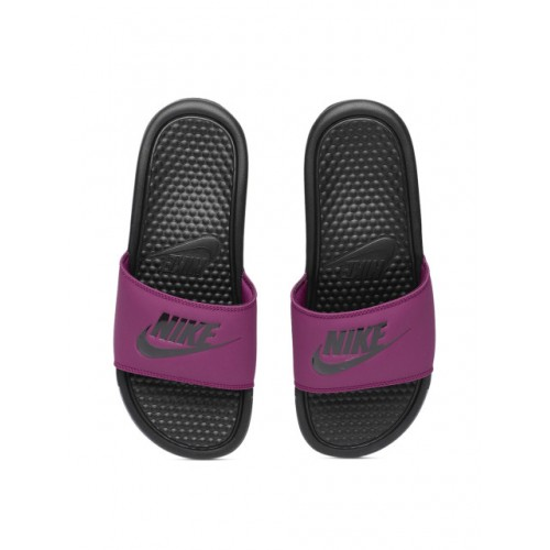 low priced 1161a 02f8a Buy Nike Purple & Black Benassi JDI Solid Sliders online ...