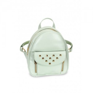 Lychee bags Women Green Solid Backpack