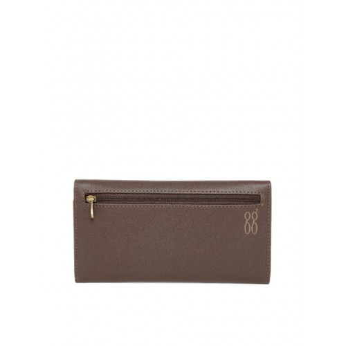 Baggit Women Coffee Brown Printed Three Fold Wallet