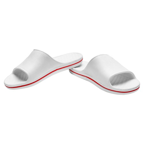 Armado White Canvas Slide Slippers