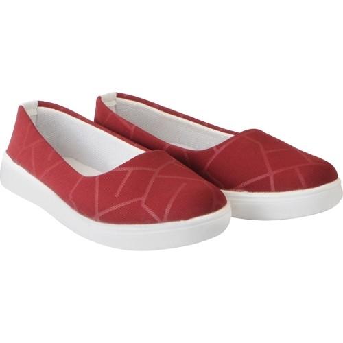 FAUSTO Maroon Stylish Slip On Sneakers