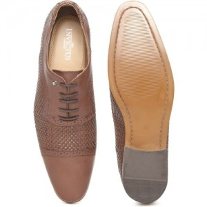 Invictus Brown Leather  Lace Up Shoes
