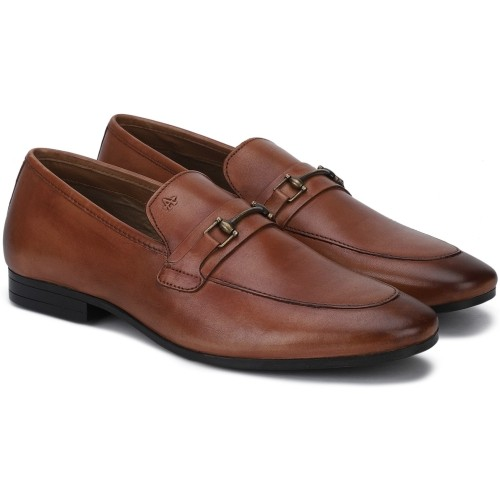 Arrow  Brown  Leather Slip On Formal Shoes