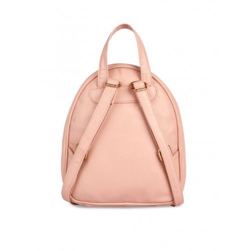 Lychee Peach-Coloured Solid Backpack