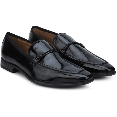 Arrow  Black  Leather Slip On Formal Shoes