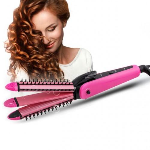 Beauty & More. NVA 3 IN 1 Curl Hair Straightener Machine