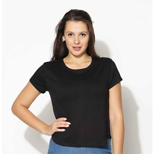littleroot Solid Women Round Neck Black T-Shirt