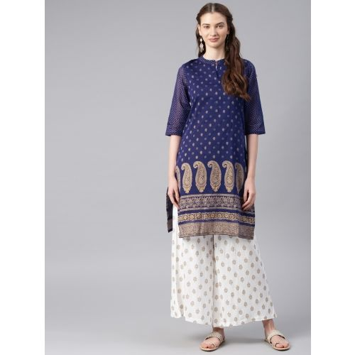 Alena Women's Printed Straight Kurta