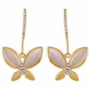 26f3413d3 ASMITTA JEWELLERY Asmitta Exotic Butterfly Shape With Crystal Gold Plated  Dangle Earring For Women