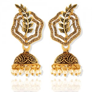 c4edfb64a ASMITTA JEWELLERY Asmitta Fashionable Jhumki Gold Plated Earring For Women
