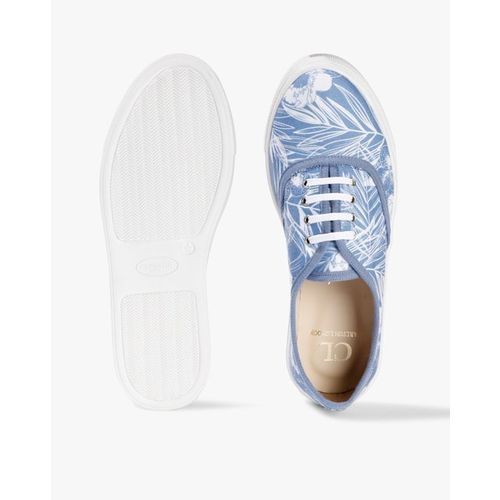 Carlton London Women Blue & White Printed Sneakers