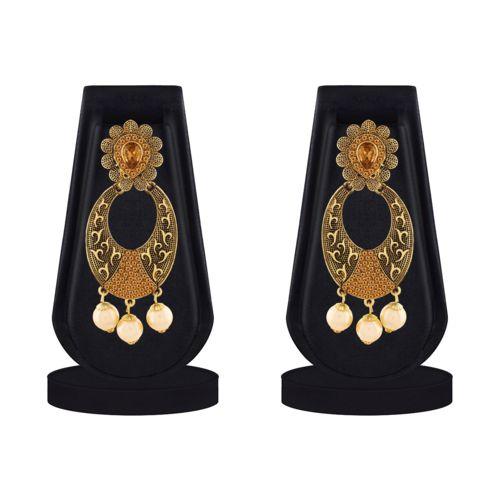 ASMITTA JEWELLERY Asmitta Glamorous Dangle Gold Plated LCT Stone Earring For Women