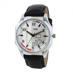WM Men White & Grey Analogue Watch