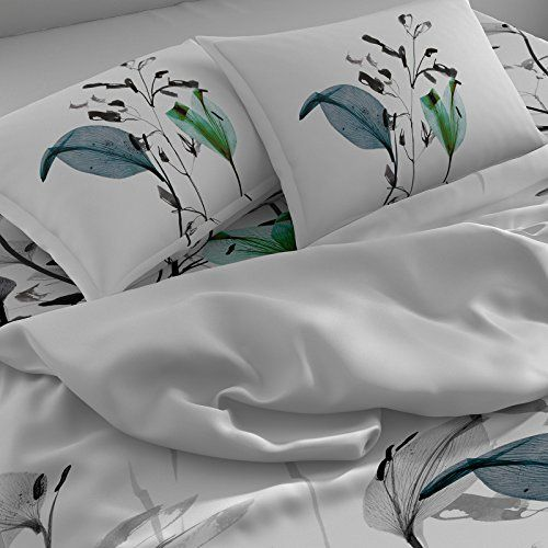 Spaces Occasions 210 TC Cotton Double Bedsheet with 2 Pillow Covers - Turq
