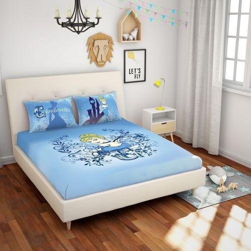 SPACES 180 TC Cotton Double Cartoon Bedsheet