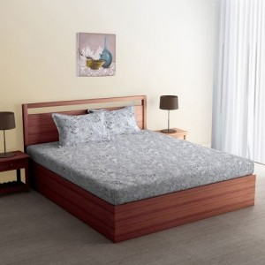 SPACES 300 TC Cotton Double King Printed Bedsheet