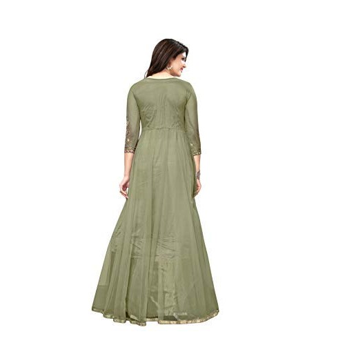 Royal Export Green Net Long Party Wear Gown