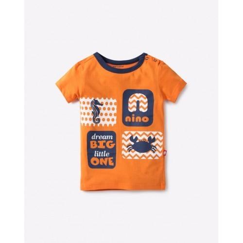 NINO BAMBINO Printed Crew-Neck T-shirt