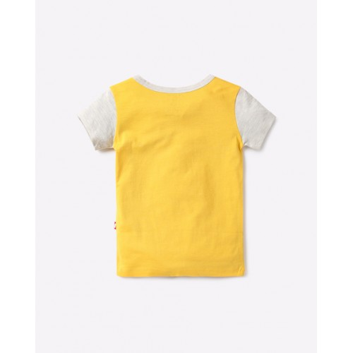 NINO BAMBINO Printed Crew-Neck T-shirt with Contrast Sleeves