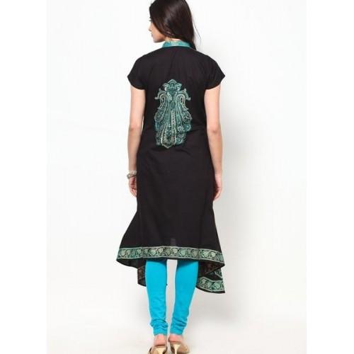 MBE Black Cotton Indowestern
