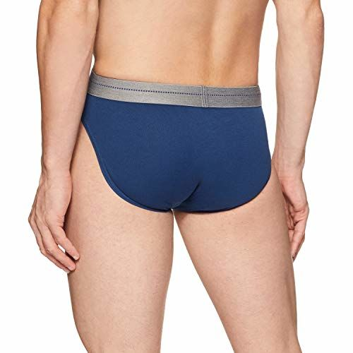 Jockey Navy Blue Cotton Plain Brief