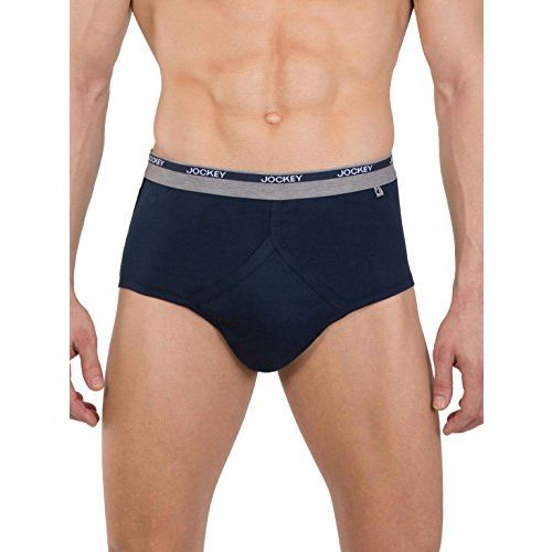 Jockey Men's Cotton Classic Brief 2007 (Colours May Vary, 90) - Pack of 2