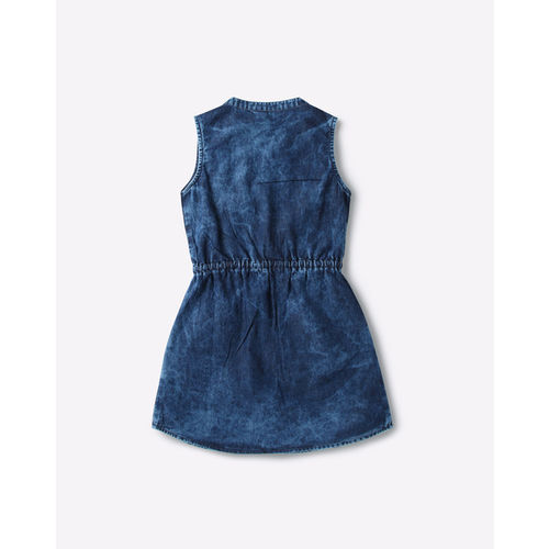 AJIO Washed Shirt Dress with Insert Pockets