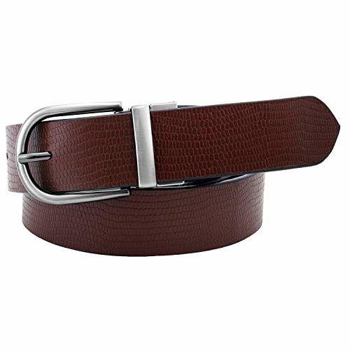 Pontos Silver Buckle Formal Black & Brown Color 100% Genuine Leather Reversible Belt for Men - belts for men formal branded