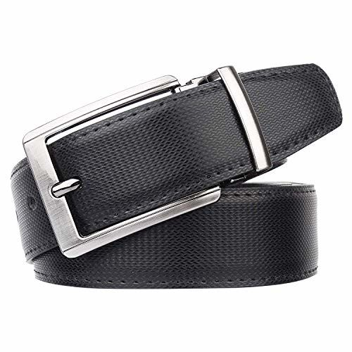 COOVS Men's Leather Black Belt(1 Year Guarantee) - belts for mens - belts for men casual stylish leather- belts for men formal branded