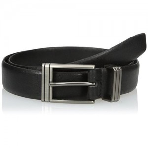 Van Heusen Men's Leather Belt with Engraved Metal Loop - 50059-001