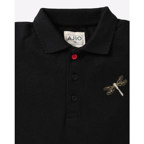 AJIO Polo Shift Dress with Pleated Hemline