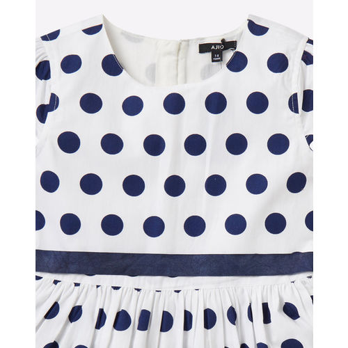 AJIO Polka Dot Print A-line Dress