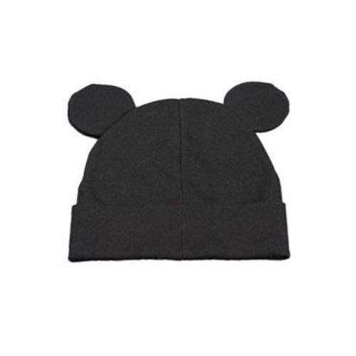 Ziory Cotton Beanie Cap - Black