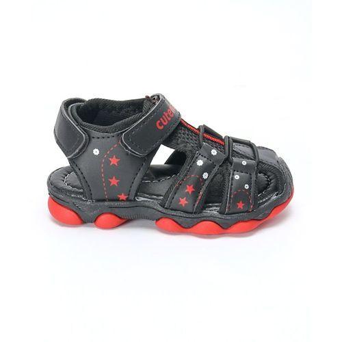 Cute Walk by Babyhug Close Toe Floaters - Black