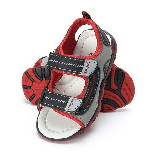 Cute Walk by Babyhug Floaters - Black & Red