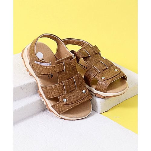 Cute Walk by Babyhug Sandals - Light Brown