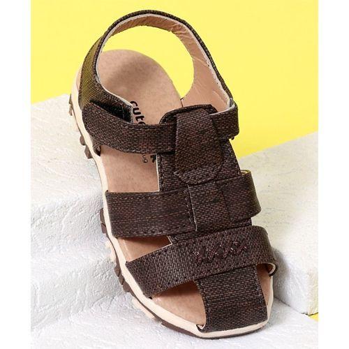 Cute Walk by Babyhug Closed Toe Sandals - Dark Brown