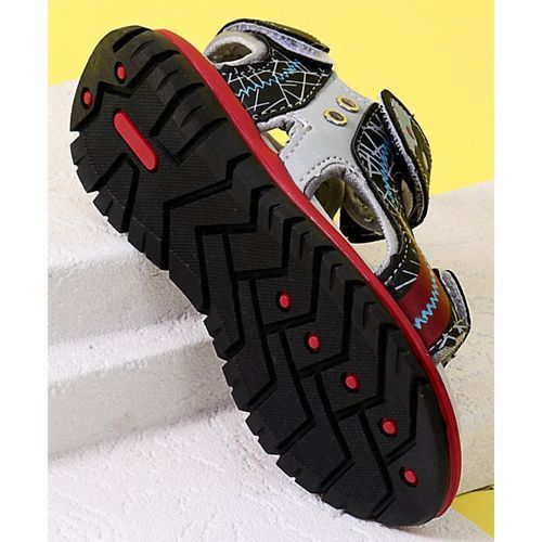 Cute walk by Babyhug Sandals With Velcro Closure - Red & Black