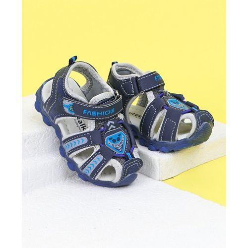 Cute Walk By Babyhug Closed Toe Sandals Fashion Print - Blue