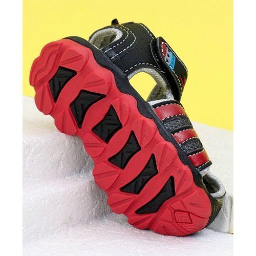 Cute Walk By Babyhug Sandals Sport Print - Red