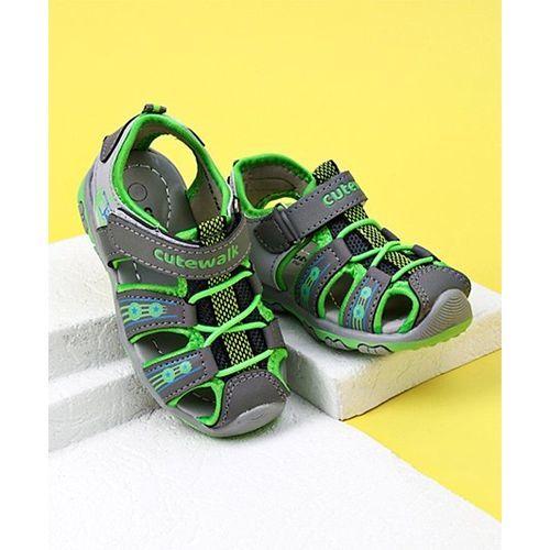 Cute Walk by Babyhug Sandals With Velcro Closure - Green